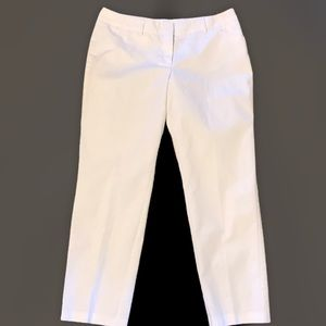 Investments Size 10 White Ankle Pants EUC